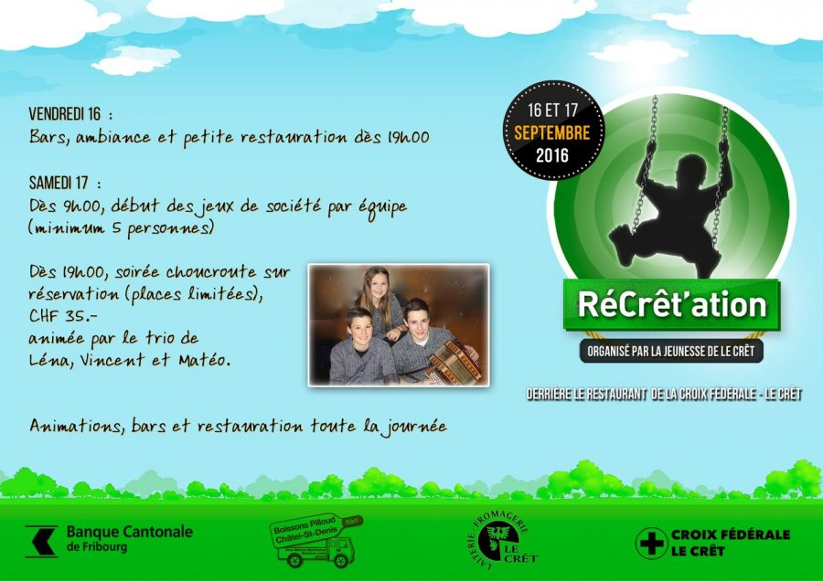 Flyer RéCrêt'ation